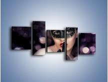Obraz na płótnie – Dziewczyna w czarnej masce – pięcioczęściowy L030W7