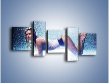 Obraz na płótnie – Ciało zmoczone deszczem – pięcioczęściowy L045W7