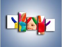 Obraz na płótnie – Kolorowy dziecięcy świat – pięcioczęściowy L053W7