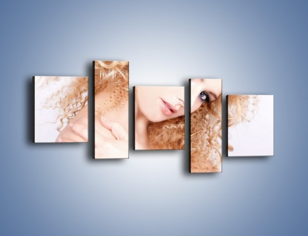 Obraz na płótnie – Kobieta i diamenty – pięcioczęściowy L081W7