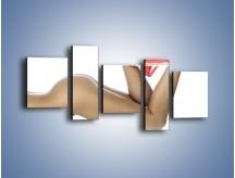 Obraz na płótnie – Koronki bielizna i nagie ciało – pięcioczęściowy L229W7