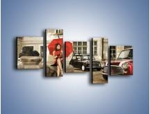 Obraz na płótnie – Damski świat z dodatkiem czerwonego – pięcioczęściowy L242W7