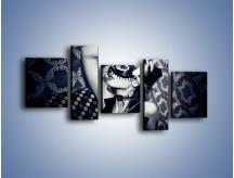 Obraz na płótnie – Czarno-biała dama – pięcioczęściowy L315W7