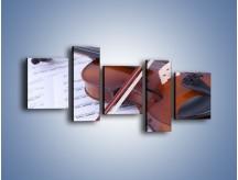 Obraz na płótnie – Melodia grana na skrzypcach – pięcioczęściowy O003W7