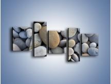 Obraz na płótnie – Kamienie duże i małe – pięcioczęściowy O006W7