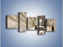 Obraz na płótnie – Głos w srebrnym mikrofonie – pięcioczęściowy O026W7
