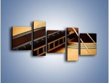 Obraz na płótnie – Instrumenty z drewna – pięcioczęściowy O108W7