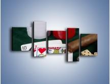 Obraz na płótnie – Męski świat hazardu – pięcioczęściowy O121W7