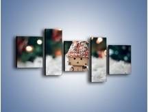 Obraz na płótnie – Mały ludek zimową porą – pięcioczęściowy O166W7