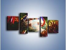 Obraz na płótnie – Bombka ręcznie malowana – pięcioczęściowy O168W7