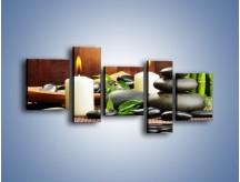 Obraz na płótnie – Masaż przy świecach – pięcioczęściowy O176W7