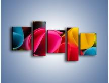 Obraz na płótnie – Kolorowe rulony – pięcioczęściowy O217W7
