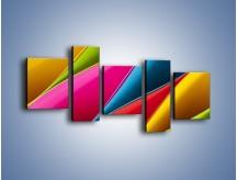 Obraz na płótnie – Idealna kolorowa kompozycja – pięcioczęściowy O219W7