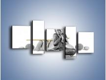 Obraz na płótnie – Budda wśród szarości – pięcioczęściowy O220W7