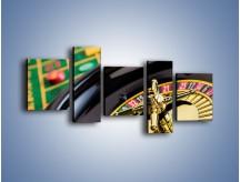 Obraz na płótnie – Czas drogocenny w kasynie – pięcioczęściowy O238W7