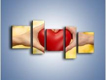 Obraz na płótnie – Miłość dwojga ludzi – pięcioczęściowy O240W7