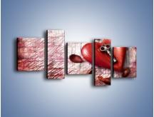 Obraz na płótnie – Klucz do serca – pięcioczęściowy O246W7