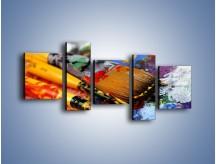 Obraz na płótnie – Kolory ze sobą zmieszane – pięcioczęściowy O251W7