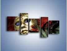 Obraz na płótnie – Maska pełna tajemnicy – pięcioczęściowy O252W7