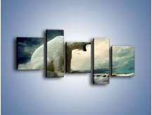 Obraz na płótnie – Donośny krzyk polarnego niedźwiedzia – pięcioczęściowy Z114W7