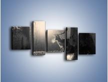 Obraz na płótnie – Jeleń w sepii – pięcioczęściowy Z250W7