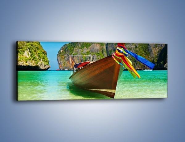 Obraz na płótnie – Dziób tajlandzkiej łódki – jednoczęściowy panoramiczny KN655
