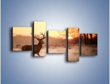 Obraz na płótnie – Jeleń szukający sarny – pięcioczęściowy Z306W7