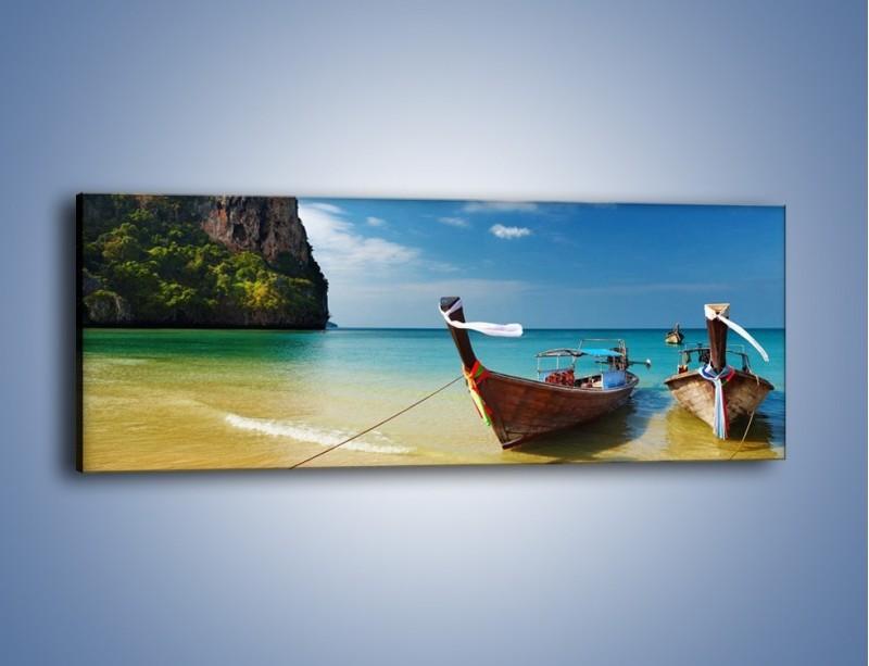 Obraz na płótnie – Wodny duet w spoczynku – jednoczęściowy panoramiczny KN656