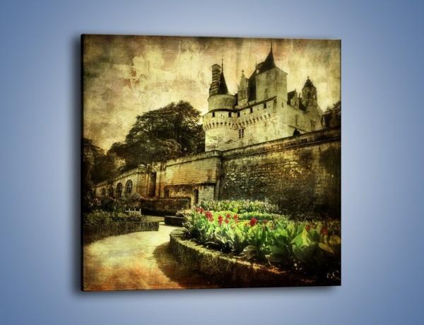 Obraz na płótnie – Zamek w stylu vintage – jednoczęściowy kwadratowy AM234