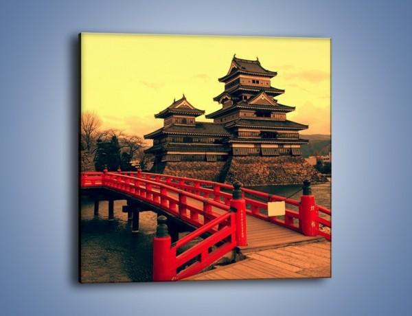 Obraz na płótnie – Japońska architektura – jednoczęściowy kwadratowy AM235