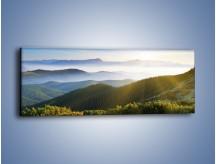 Obraz na płótnie – Widok na górskie doliny – jednoczęściowy panoramiczny KN719