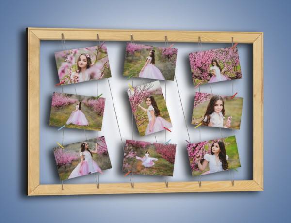 Ramka + 9 Twoich zdjęć z ozdobnymi klamerkami