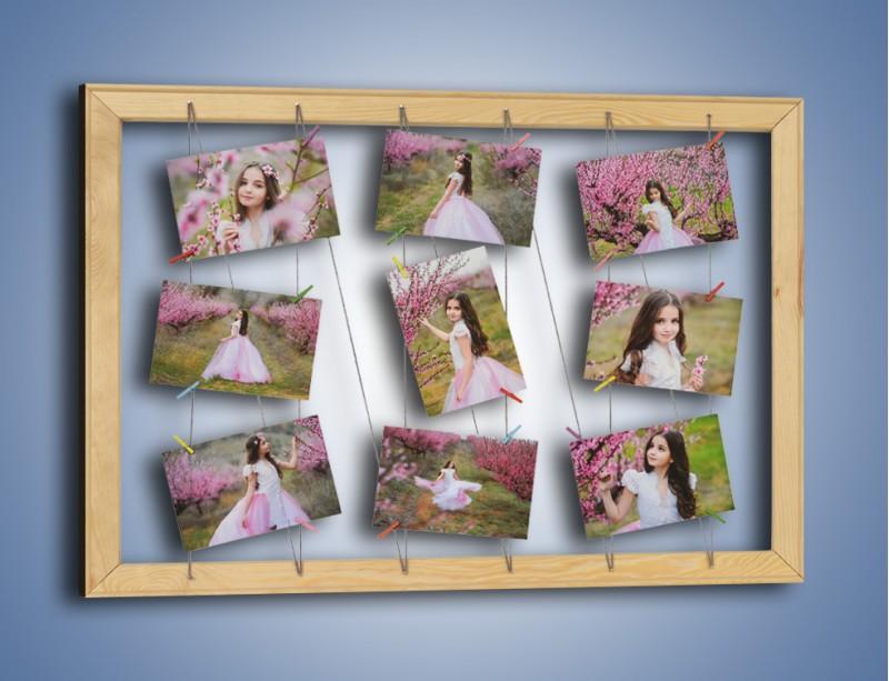 Ramka z ozdobnymi klamerkami + wydruk 9 Twoich zdjęć