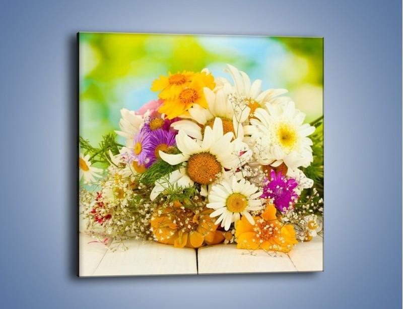 Obraz na płótnie – Bukiecik dla małej ogrodniczki – jednoczęściowy kwadratowy K369