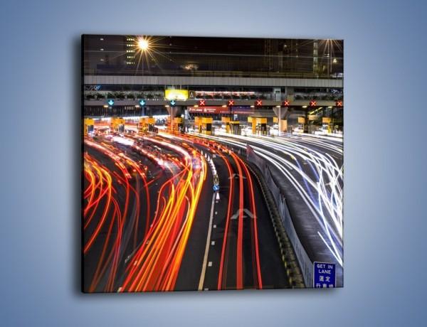 Obraz na płótnie – Autostradowa bramka w ruchu świateł – jednoczęściowy kwadratowy AM236