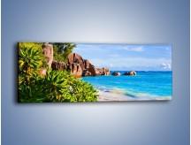 Obraz na płótnie – Brzeg morza jak z bajki – jednoczęściowy panoramiczny KN755