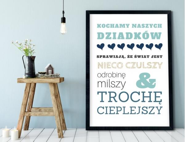 Plakat lub Obraz - Za co kochamy dziadków
