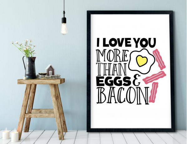 Plakat lub Obraz - I love You more than...