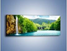 Obraz na płótnie – Cały urok górskich wodospadów – jednoczęściowy panoramiczny KN769
