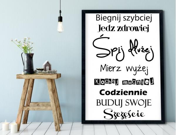 Plakat lub Obraz - Buduj swoje szczęście