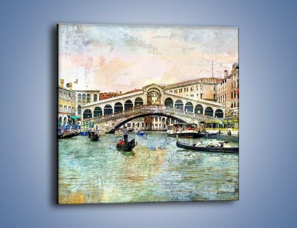 Obraz na płótnie – Wenecja w stylu vintage – jednoczęściowy kwadratowy AM239