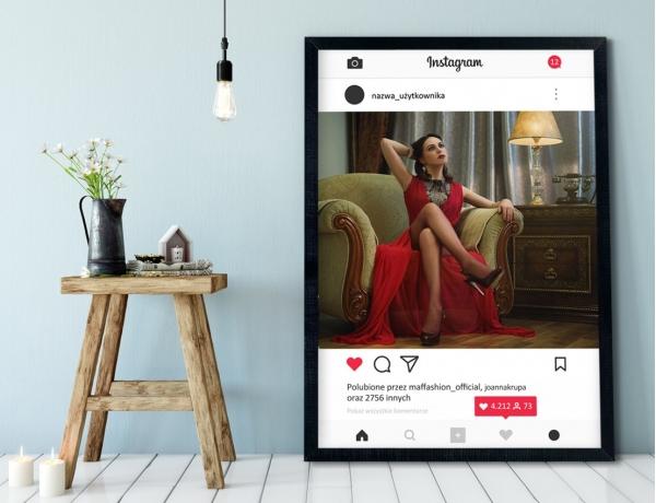 Plakat lub Obraz - Post na Instagramie