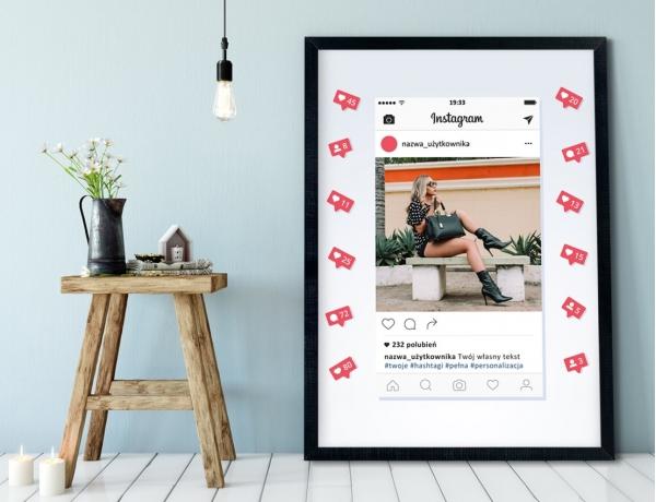Plakat lub Obraz - Post na Instagramie z powiadomieniami