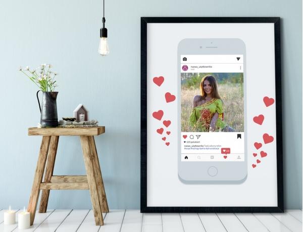 Plakat lub Obraz - Post na Instagramie w telefonie