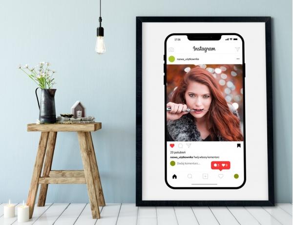 Plakat lub Obraz - Post na Instagramie na iPhone