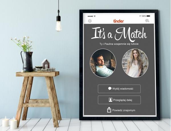Plakat lub Obraz - It's a Match na Tinderze
