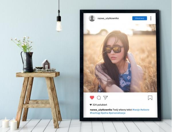 Plakat lub Obraz - Post w sieci społecznościowej