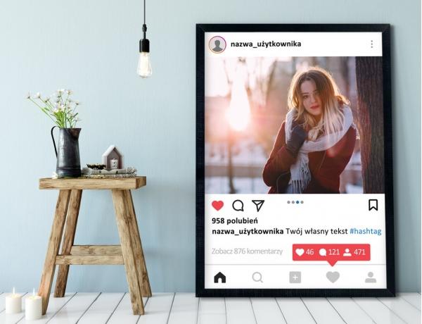 Plakat lub Obraz - Post na Instagramie z liczbą powiadomień