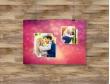 Plakat lub Obraz - Zdjęcia w pięknym tle z serduszkami