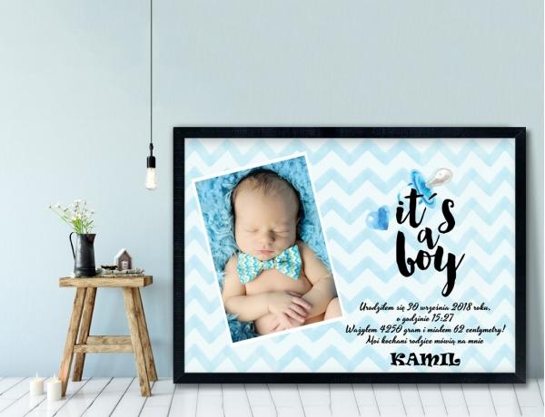 Plakat lub Obraz - Metryczka it's a boy